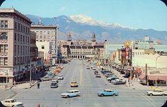 pikes peak avenue colorado springs CO - 1960's