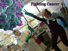 Cancer Fighting Superheroes - Fantastic Photo from a Urology Lab in California!