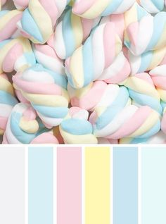 Pastel color scheme,blush pale blue pale yellow ,spring color inspiration - Find color palette for all year round all season whether for your home. Pastel Color Scheme, Scheme Color, Color Schemes Colour Palettes, Pastel Palette, Colour Pallette, Pastel Colors, Color Combinations, Spring Color Palette, Summer Colours