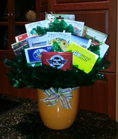 Gift card bouquet for different places on campus perfect for going gift card bouquet negle Choice Image