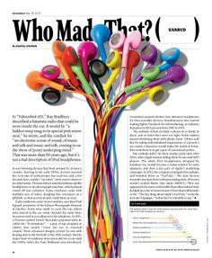 Earbud, Designer: Raul Aguila , Design Director: Gail Bichler, The New York Times Magazine Editorial Design Magazine, Magazine Layout Design, Editorial Layout, Newspaper Layout, Newspaper Design, Web Design, Book Design, Flyer Poster, Typography Magazine