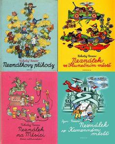 4x Neználek Childhood Memories, Comic Books, Retro, History, Nostalgia, Comic Book, Comics, Mid Century, Graphic Novels