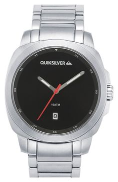 Quiksilver 'The Sovereign' Bracelet Watch, 43mm http://www.thesterlingsilver.com/product/hugo-boss-gents-watch-chronograph-xl-leather-1513093-quartz/