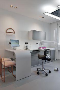 Clinic Interior Design, Clinic Design, Dental Office Design, Medical Design, Office Ceiling Design, Dental Cabinet, Dental Office Decor, Office Interiors, Lyon