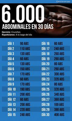 6.000 abdominales en 30 días