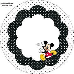 mickey puntos negro y blanco