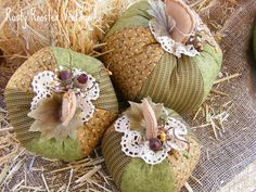 fabric pumpkins... wrapped TP...ingenious.