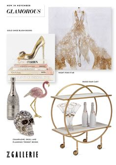 Our Black Friday sale is ON with 20% OFF Decor & Art (code STYLE20) + 15% OFF Furniture (code STYLE15) with the new Glamorous Collection. Playful elements, bedazzled accents, and bar cart fancies add polished elegance to any home, explore and shop the latest finds at zgallerie.com!