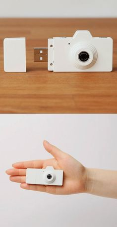 Moderna Mini cámara USB color blanco