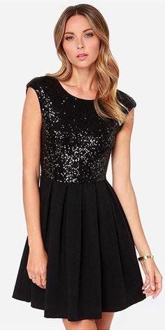 Sexy Backless Sleeveless High Waist Sequins Spliced Dress
