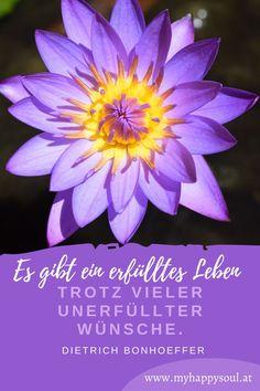 Es gibt ein erfülltes Leben trotz vieler unerfüllter Wünsche. Dietrich Bonhoeffer. Zitate und Sprüche zum Thema erfülltes Leben. #erfülltleben #Wünsche #Freude #Spruch #Zitat Dietrich Bonhoeffer, Self Discovery, Finding Yourself, Positive Sayings