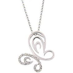 @Overstock - Add an elegant accent to your outfit simply by wearing this sparkling, diamond, butterfly necklace. This sterling-silver necklace includes 0.2 carats of round diamonds, with 20 creating an attractive artistic design suitable for all occasions.http://www.overstock.com/Jewelry-Watches/Sterling-Silver-1-5ct-TDW-Diamond-Butterfly-Necklace-J-K-I3/4138236/product.html?CID=214117 $21.99