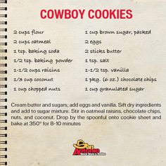 Cowboy Cookies: one of our most favorite Tasty Tuesday recipes! These cookies are sure to be a hit at your next cookie swap!