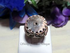 Handmade Gear Copper Band Ring Shirley Jackson Design by AJewelryC