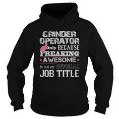 Awesome Grinder Operator Shirt - #shirt design #tshirt refashion. BEST BUY => https://www.sunfrog.com/Jobs/Awesome-Grinder-Operator-Shirt-Black-Hoodie.html?68278