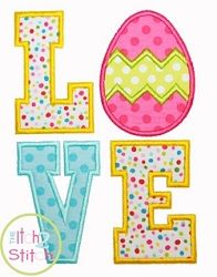 Easter Egg Love Applique - 3 Sizes! | What's New | Machine Embroidery Designs | SWAKembroidery.com The Itch 2 Stitch