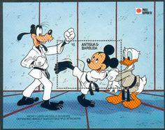 Disney martial arts postage stamp: karate
