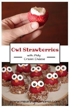 Owl Strawberries - Meaningfulmama.com