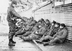 Argentine prisoners, Falklands War.
