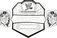 wwe championship belt coloring pages.html