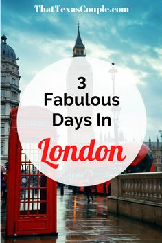 Planning a trip to London? Then you need to read this post. We've outlined exactly what to do during your 3 days in London. #london #europe #unitedkingdom #travel #itinerary #couplestravel