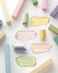 ELLE / Photographer represented by Pastel Palette, Pastel Colors, Colour Pallete, Colour Schemes, Pastel Crayons, Texture Photography, Product Photography, Nail Effects, Colour Board