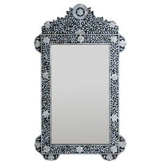 Inlaid mother-of-pearl flower mirror 28.25x48.5 $311.35