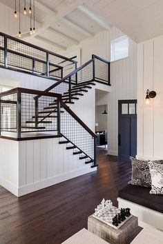 Healdsburg House by Dotter & Solfjeld Architecture + Design « HomeAdore Modern Stair Railing, Staircase Railings, Modern Stairs, Railing Design, Staircase Design, Spiral Staircase, Staircases, Railing Ideas, Staircase Ideas