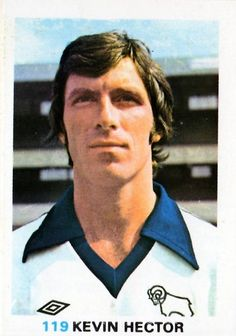 Kevin Hector of Derby County in Sport English, Der Club, Soccer Cards, Derby County, Football Program, Texaco, 1970s, Champion, England