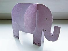 cut on the fold to make standing creatures and art.