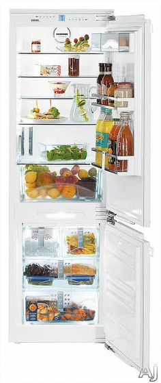 Liebherr HC1080 22 Inch Fully-Integrated Bottom-Freezer Refrigerator with 9.3 cu. ft. Capacity, 4 Glass Shelves, FrostSafe System, VarioBoxes, MagicEye Control, LED Lighting, Premium GlassLine Door Interior and Ice Maker - Requires Door Panels: Plumbed Ice Maker