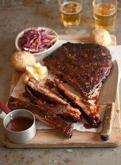 {Sticky barbecue chipotle ribs.}