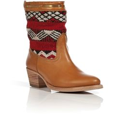 COBRA SOCIETY Otto Boots in Cognac/Red-Multi ($689) ❤ liked on Polyvore