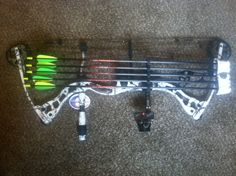 Elite Archery -The Hunter bow in snow camo, no pink for this girl!