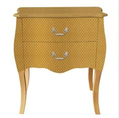 Wholesale MDF+PU gold table with two drawer lamp side table,Gold table,gold leaf table,two drawer lamp side table Yellow Nightstand, Side Table Lamps, Bedside Tables, Gold Table, Leaf Table, European Fashion, Vintage Furniture, Custom Design, Arts And Crafts