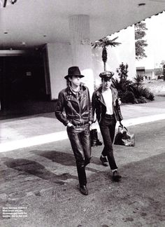 Mick Jones and Joe Strummer (The Clash)