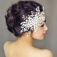 Tree Pearl Wedding Headpiece Hair Combs – USD $ 39.99