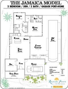 Rv garage home floorplan we love it floorplans for House plans jamaica