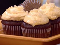 Gingerbread Cupcakes with Orange Icing Recipe : Ina Garten : Food Network - FoodNetwork.com