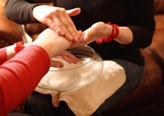 Handwashing.  Blessings from each sister to the other.