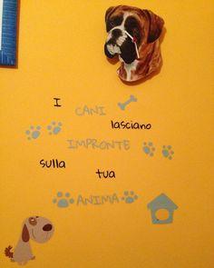 #dogsofinstagram #dogs #bestfriend #wall #walldecor #orange #boxer #love by robykave