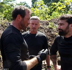 Opening up: Mark Billingham, pictured on Channel SAS: Who Dares Wins, has spoken about working with celebrity couple Angelina Jolie and Brad Pitt and their children Fox Quotes, Ant Middleton, Winning Quotes, Male Icon, Brad Pitt And Angelina Jolie, Fantastic Mr Fox, Ideal Man, Le Jolie, Military Men