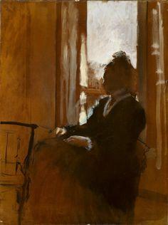 Woman at a Window, 1871-72,Edgar Degas