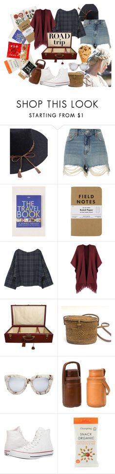 """where to"" by suchajocundcompany ❤ liked on Polyvore featuring River Island, Lonely Planet, MANGO, WearAll, Erin Fetherston, Hermès, Quay, Jayson Home, Converse and Summer"