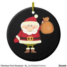 Christmas Tree Ornament - Santa  #christmas #holidays #ornaments  #home #shopping #style #christmastree #homedecor #gifts #santaclaus