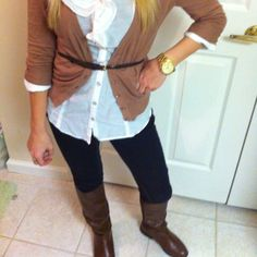 Love the boots and MK watch. This look is classy.