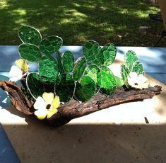 Cactus And Mesquite - from Delphi Artist Gallery by Melody's Glass Creations