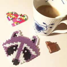 Racoon perler beads by bystaer