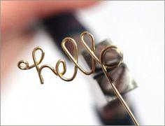 Craft Tutorial: Wire Word Rings