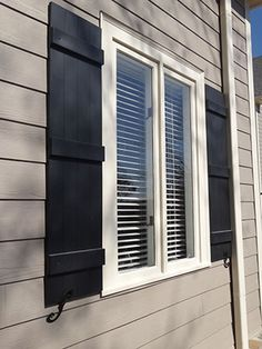 Wood Board And Batten Stained Shutters With Metal Bolts Covington Shutters Pinterest More